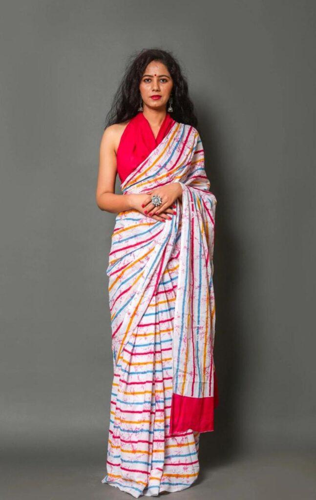 Leheriya Saree