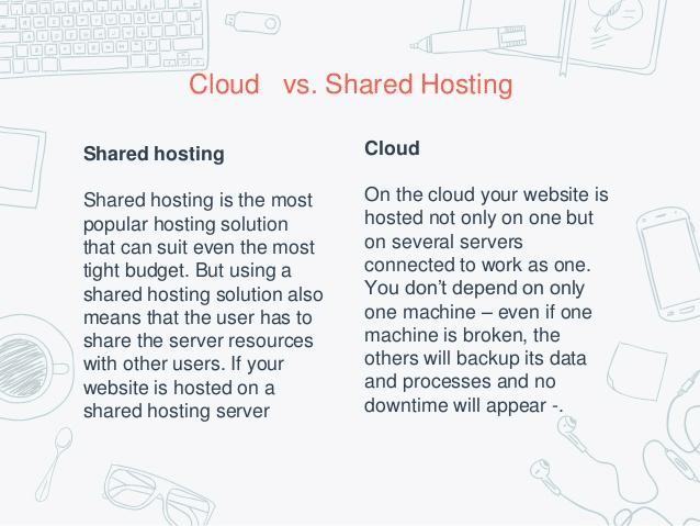 cloud vs. shared